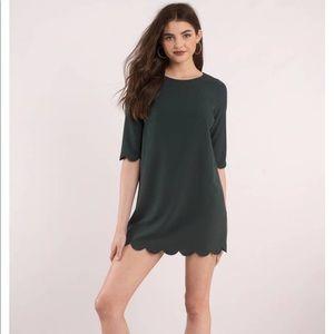 Tobi Emerald Sweetly Scalloped Shift Dress!